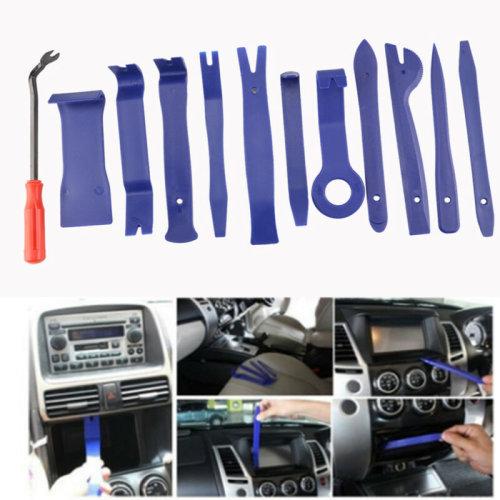 12Pcs Car Trim Door Removal Molding Kit Pouch Pry Tool Interior DIY