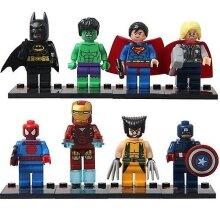 8pcs Superhero Mini Figures