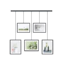 Adjustable Photo Display – Holds 5 Picture Frames for Photos, Prints, Artwork And More, 4 By 6 Inch and 5 By 7 Inch