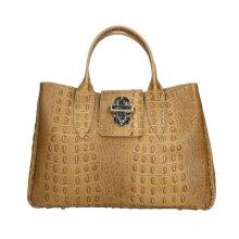 35x25x15 cm Leather Handbag - Made in Italy