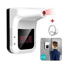 Wall-Mounted Body Thermometer, Industrial Automatic Hands Free Body Thermometer Body Temperature Scanner, 0.5S Quick Test Non-Contact Infrared Foreh