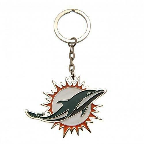Miami Dolphins NFL Enamel Keyring