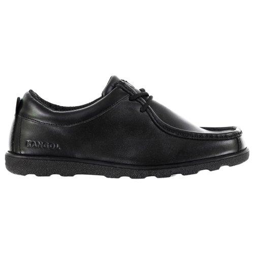 Kangol Waltham Lace Up Junior Shoes Boys Black School Leather Footwear