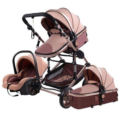 Baby Stroller High-landscape Bidirectional Baby Buggy Pram Folding Stroller Baby
