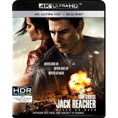 Jack Reacher Never Go Back 4K Ultra HD + Blu-Ray [2017]