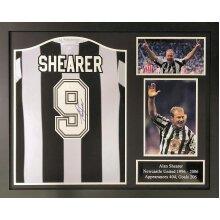 Framed Alan Shearer 1996 Newcastle Utd signed shirt with COA & proof