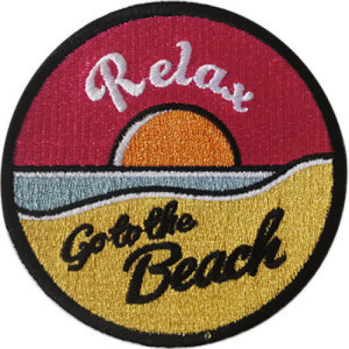 Patch - Surfing - Relax Go To Beach Icon-On p-dsx-4667