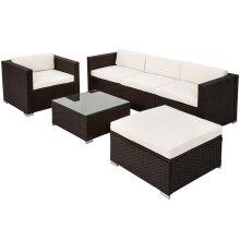 Rattan garden furniture Milano - brown