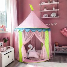 Pink Cotton Kids Teepee Tent Baby Wigwam Playhouse Indoor Outdoor Game