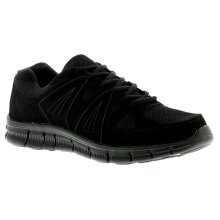 New Mens/Gents Black Lace Ups Lightweight Trainers