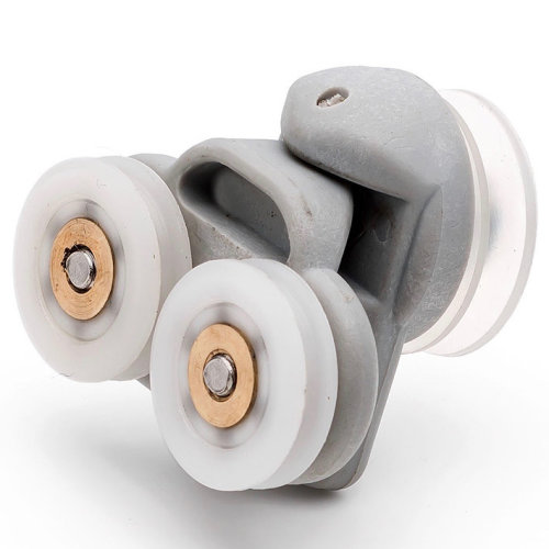 2x Twin Spare Shower Door Rollers/Runners/Wheels 19mm Wheel Diameter grooved wheel L3