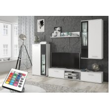 Cello Living Room Furniture Set with RGB Led Lightings