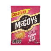 The Real McCoys Ridge Cut Sizzling King Prawn 47.5g x 36 Bags