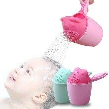 2019 Baby Cartoon Bear Bathing Cup Newborn Kid Shower Shampoo Cup Bailer Baby Shower Water Spoon Bath Wash Cup for 2 Color