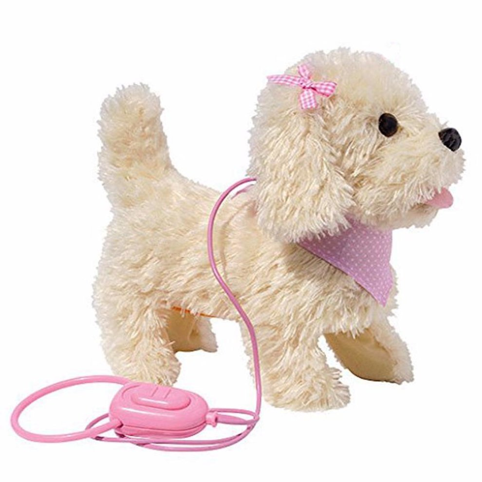 Fluffy Plush Walking & Talking Dog Toy Electronic Pet Puppy with Barking Sounds