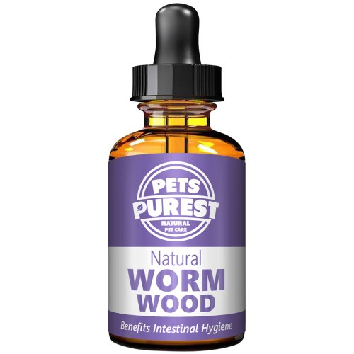 Pets Purest 100% Natural Wormer - Natural Alternative to Nasty Chemical Products - For Dogs, Cats, Birds, Ferrets, Rabbits & Pets (1-2 Year Supply)