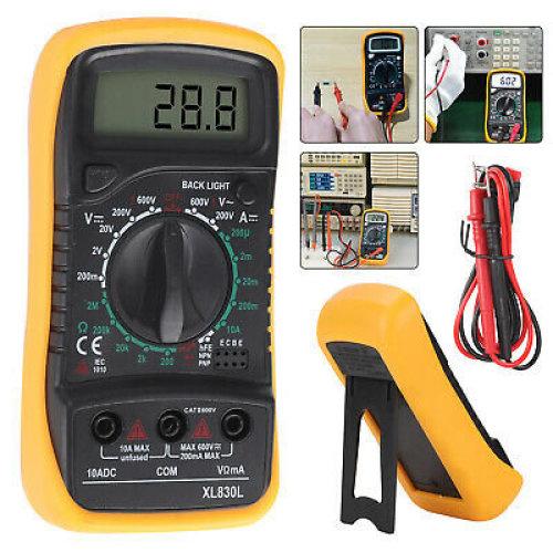LCD Digital Multimeter Voltmeter Ammeter AC DC OHM Current Circuit Tester Buzzer