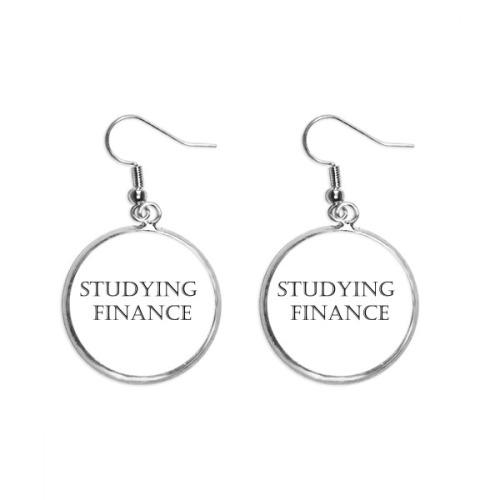 Short Phrase Studying Finance Ear Dangle Silver Drop Earring Jewelry Woman