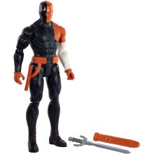 JUSTICE LEAGUE GDT55 DC Comics True Moves Deathstroke Action Figure 12-inch Scale with 11 pts. of Articulation, Multicoloured