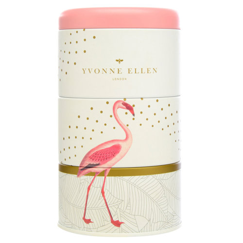 Wax Lyrical 3 Stacking Candle Tins Yvonne Ellen Design Fancy Flamingo