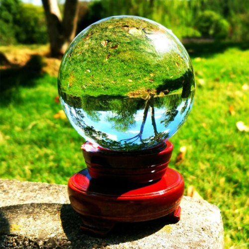 100mm Stand Crystal Glass Ball Natural Quartz Healing Ball + Stand