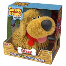 Soggy Doggy Interactive Toy Dog Brown Dizzy with Lead by Ideal