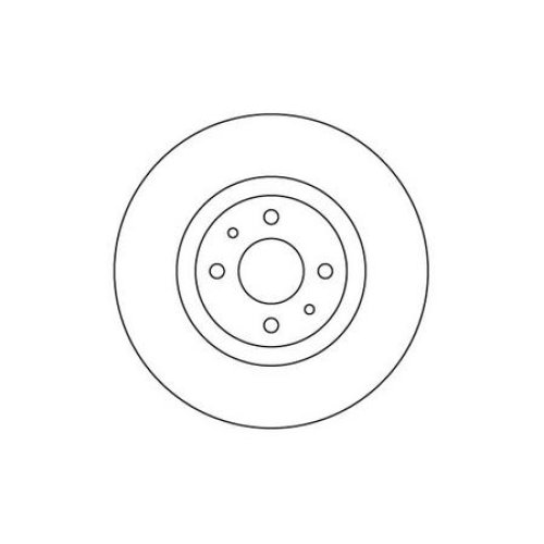 Front Brake Disc - Single for Vauxhall Astra 1.6 Litre Petrol (03/10-12/16)