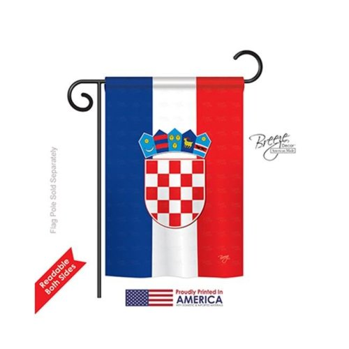 Breeze Decor 58210 Croatia 2-Sided Impression Garden Flag - 13 x 18.5 in.