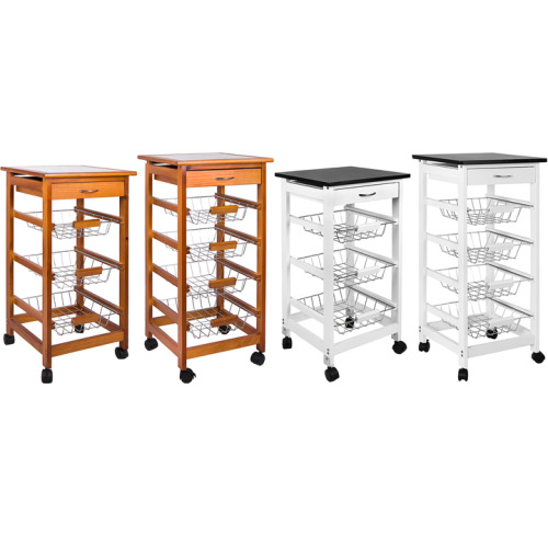 3 or 4-Tier Kitchen Trolley | Storage Trolley With Baskets