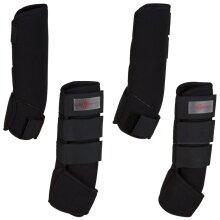 Kerbl Four Piece Horse Boots Wear Set Leg Protection Wraps Black Full 320133