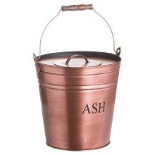 Hill Interiors Ash Bucket in Copper Finish