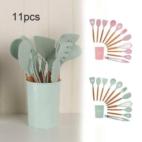 11pc Silicone Kitchen Utensils Set