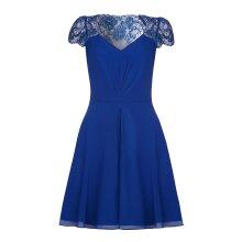 Yumi Womens/Ladies V Neck Lace Short Sleeve Dress