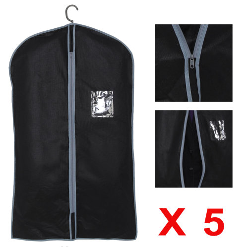 5x Breathable Garment Suit Covers Clothes Dress Carrier Bag Zipper