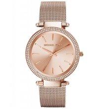 Michael Kors Darci Ladies Watch Rose Gold PVD Mesh Bracelet Gold Dial MK3369