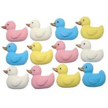 12 Edible Baby Ducks Baby Shower Cake Cupcake Decorations
