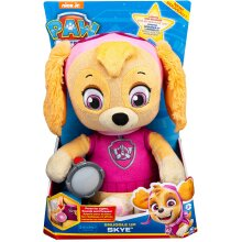Paw Patrol 6054736 Snuggle Up Skye Plush with Torch and Sounds, for Kids Aged 3 Years and Over, Multicolour