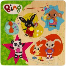 Bing Wooden Pick and Place Puzzle, Multi