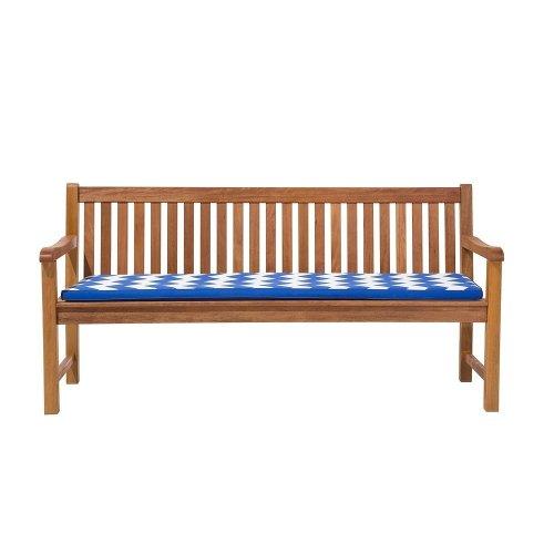 Garden Bench Cushion Chevron Blue TOSCANA/JAVA