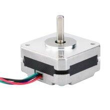 17 Stepper Motor, 17Hs08-1004S 4-Lead, Nema 20Mm 1A 13Ncm(18.4Oz.In) 42 Motor Nema For Diy 3D Printer Cnc Xyz
