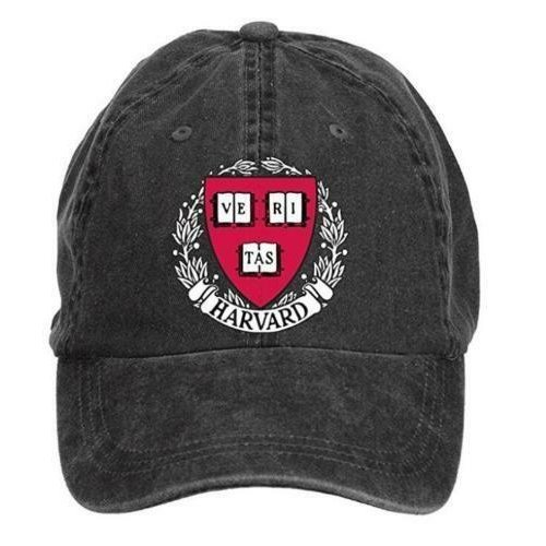 Harvard Crimson University Washed Baseball Caps Unisex Men Women