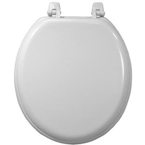 200-WHT-RD White Wood Composition Toilet Seat