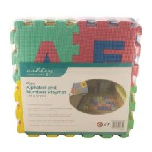 Redwood Leisure 40PC Foam Alphabet And Numbers Playmat - 79 x 126cm Childrens Toy