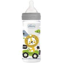 feeding bottle 250 ml polymer/silicones grey/transparent