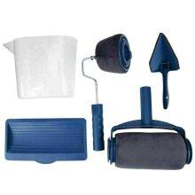 5pcs Paint Runner Pro Seamless Renovator Handle Paint Roller Paint Brush Set Kit
