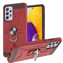 Slim Shock-Absorbing Rugged Case Compatible with Samsung Galaxy A72 5G -4G Case -Red