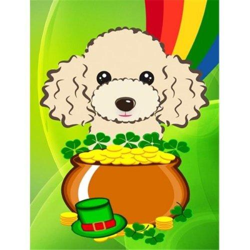 Buff Poodle St. Patricks Day Flag Garden