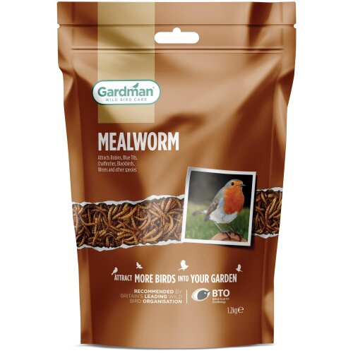 Gardman Mealworm Pouch 1.2kg + 25%