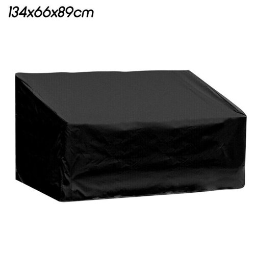 (Black, 134x66x89cm) 2/3/4 Seater Cover Waterproof Garden Bench Furniture Seat Cover Ptotecot Shield