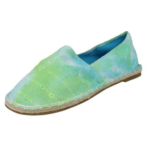 (UK 4, Blue) Ladies Spot On Flat Espadrille Shoe Stitched